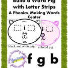 Fun Pig Phonics, Making Words Reading Center or Game. For ESOL & ESE too!