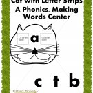Fun Cat Phonics, Making Words Reading Center PDF GREAT For ESOL & ESE too!