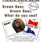 Picture-Word Cards for Brown Bear, Brown Bear What Do You See? for ESL & Primary in PDF