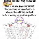 Choose the Best Way to Add II! Choose Use a Double, Make A Ten, or just Count On