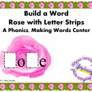 Long O Game Build a Word Rose PDF