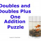 Doubles and Doubles Plus One Addition Picture Puzzle (Fish) PDF