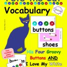 Pete the Cat Vocabulary Cards PDF