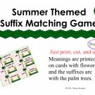 Summer Suffix Matching Game