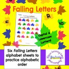 "Alphabet Back to School ""Falling Letters"" Sheets in PDF"