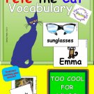 Pete the Cat TOO COOL FOR SCHOOL Vocabulary Cards in PDF