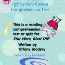 Star Wars, Blast Off! (by Rob Colson) Reading Comprehension Quiz or Test with Key PDF