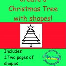 Create a Christmas Tree with Shapes PDF