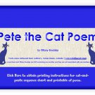 Pete the Cat Introduction Poem PDF
