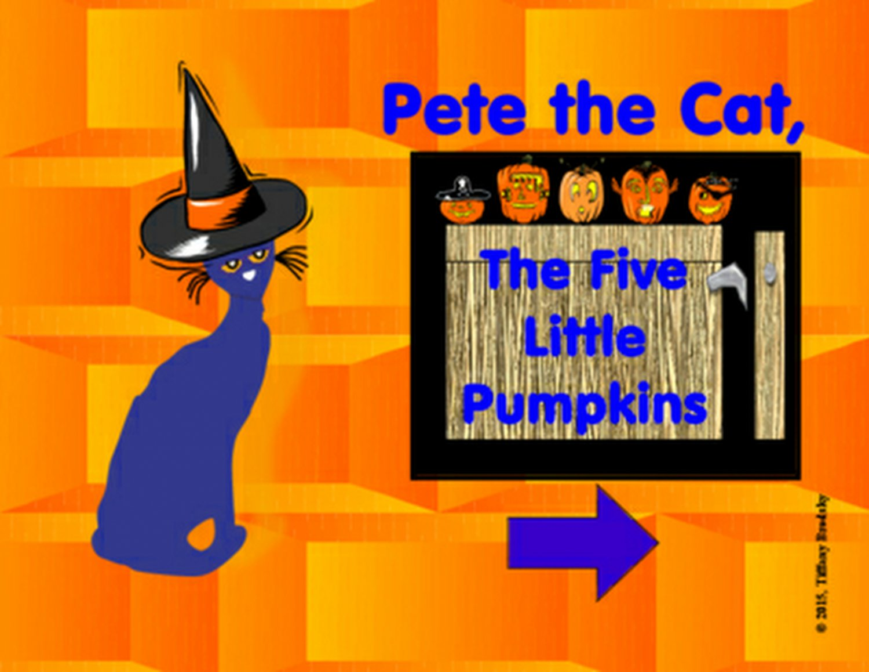 Pete the Cat Five Little Pumpkins Interactive Game PDF