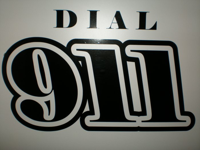 Dial 911 Decal