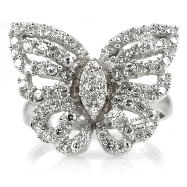 Silver Butterfly Ring - Mariah Carey Inspired