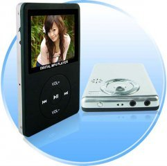 Elite MP4 Player with Camera - 2.4 inch Screen - 4GB + SD Slot - Black