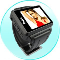 Widescreen MP4 Player Watch - 1.8 Inch Display - 4GB - Blue