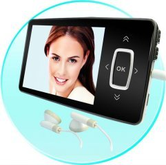 Micro MP4 Player - LED Touch Buttons - 4GB