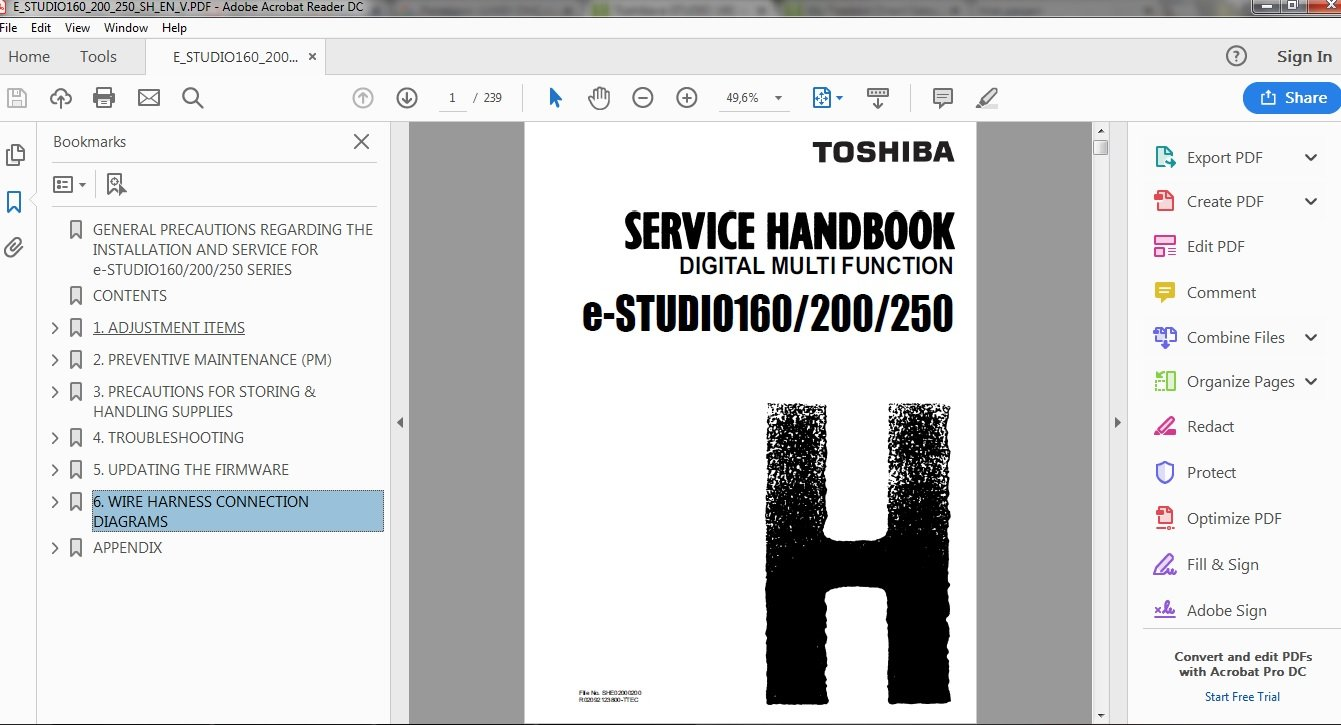 toshiba estudio 250 manual