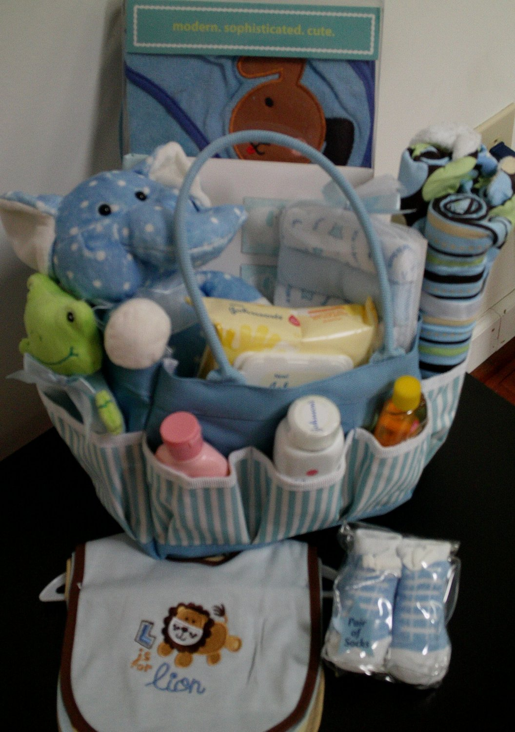 Welcome Home Baby Boy Gift Tote