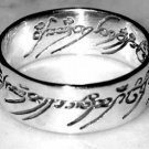 Lord of the Rings Silver Ring Size 6