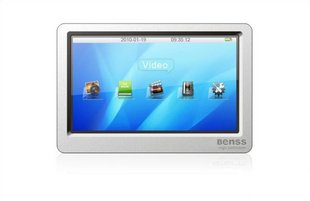 New BENSS BX82 4.3 Inches HD (4GB) MP3/MP4/MP5 PLAYER TV-OUT HDTV video output e-book