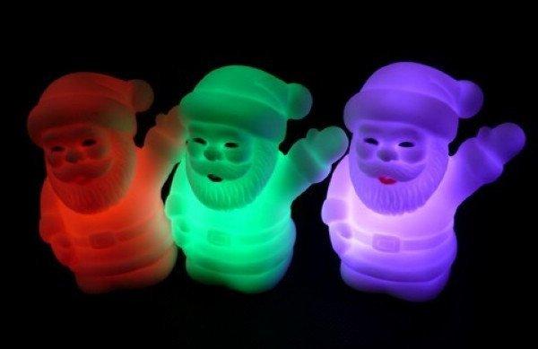 LED light Santa Claus 7color light Father Christamas light Christmas light