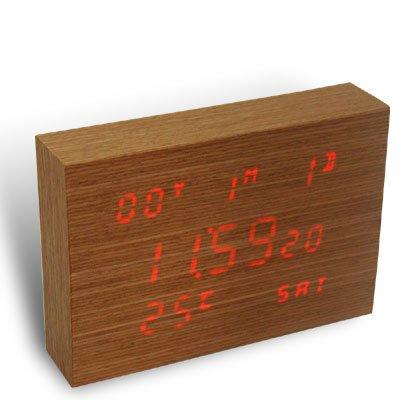 Flip Wooden Clock