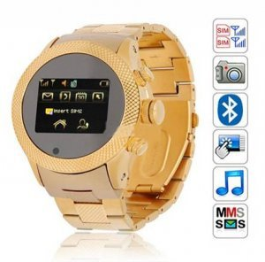 S766 quad-band watch phone music dual sim dual standby steel