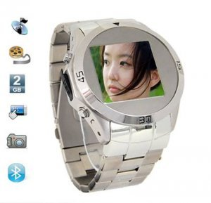 Quad-band stainless steel watch mobile phone MQ006