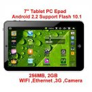 7 inch android 2.2 tablet pc VIA 8650 MID support Flash 10.0