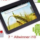 "7"" Allwinner A10 Android 2.3 Ultra Thin Tablet Pc 1.2ghz 512mb 4gb 5 Point Capacitive Touch"