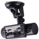 Car Video Recorder With Gps And Dual Lens And 120 View Angle 2012 New Arrival X2000