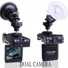 dual camera car black box 120 degree lens 270 degree rotational 2.5 LCD night vision car DVR X1000