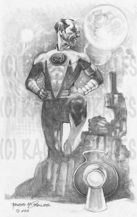 "Sinestro Print 11""x17"""