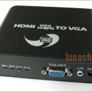 YPbPr VGA HDMI Input VGA output HDTV Converter Adapter
