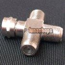 1 F Male to 3 F Female Jack Plug Adapter Splitter