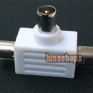 RF CATV TV 1 Male to 2 Female Adapter Connector Plug