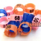 100PCS 8mm numbers colors Poultry  bird of peace dove pigeon Leg Rings
