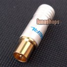 24K Gold Plated TV RF FR-45e Male Plug Adapter Choseal