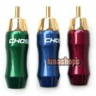 1PCS 24K Gold-Plated RCA Male Choseal Plugs Adapter VF-454d