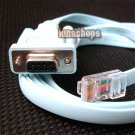 RS232 RS-232 DB9 9pin to RJ45 Cat5 LAN Router Ethernet Adapter Cable For Cisco