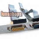 RS232 RS-232 Plus 15 pin Female PCI BRACKET Card Adapter For PC