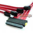 SAS Controller SFF-8484 32 Pin to 4 SATA 7 Pin HDD Back Plane Cable 50cm Red
