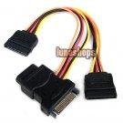 15 Pin SATA to SATA Male Female 2pcs 4 Pin IDE Female Cable