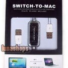 Swith To MAC Adapter MAC To PC File Transfer Share USB Data Male To Male Cable