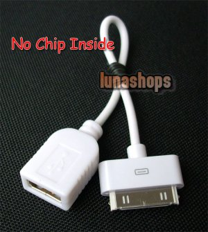 Without Chip Dock Connector to USB Female Charger Adapter Cable for iPad