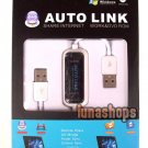 Auto Link Share Internet Work Remote Data Folder Outlook + DVD  USB Male Cable