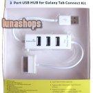3 Port USB HUB For Samsung Galaxy Tab Connect Kit Data Transmission