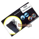 60X-100X Zoom Magnify Microscope Lens for Apple iPhone 4G 4S Mobile w/ Hard Case