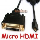 Micro HDMI Male to DVI 24+1 Female Cable Adapter for EVO 4G XT800 Mobilephone