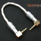 Hifi 90 degree 3.5mm DIY Male To 90 degree Male Audio Silver Cable Adapter