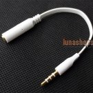 3.5mm 4 Poles Male to Female Cable Convertor for Iphone HTC Nokia Moto handfree